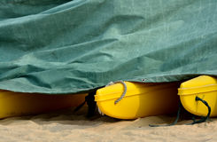 Floater of boat under cover Stock Image