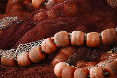 Floaters and nylon string. Close view of some fishing gear, including nylon string and floaters Royalty Free Stock Images