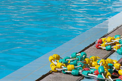 Floaters on the pool Stock Images