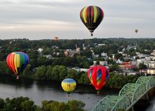 Floating above the city Royalty Free Stock Photography