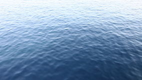 Floating above ocean surface Stock Images