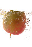 Floating apple stock image