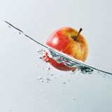 Floating apple Stock Photos