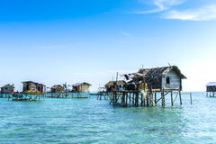 Floating bajau village Stock Image