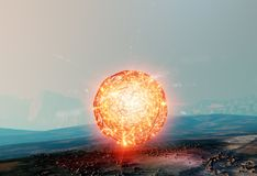 Floating ball of light, antigravity found on Mars royalty free stock photos