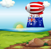 A floating balloon with the flag of Australia Stock Image