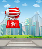 A floating balloon with the flag of China Stock Images