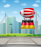 A floating balloon with the flag of Germany Stock Image