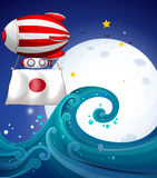 A floating balloon with the flag of Japan Stock Images
