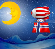 A floating balloon with the flag of Norway Royalty Free Stock Image