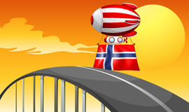 A floating balloon with the flag of Norway Stock Image