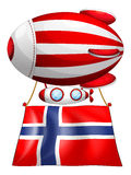 A floating balloon with the flag of Norway Royalty Free Stock Images