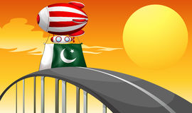 A floating balloon with the flag of Pakistan Royalty Free Stock Photo