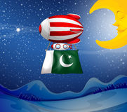 A floating balloon with the flag of Pakistan Stock Photo