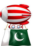A floating balloon with the flag of Pakistan Stock Images