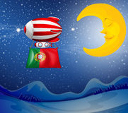 A floating balloon with the flag of Portugal Stock Photography