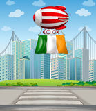 A floating balloon with the Ireland flag Royalty Free Stock Photo