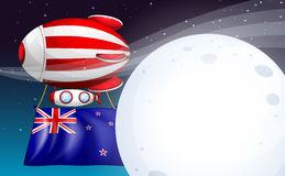 A floating balloon with tne New Zealand flag Stock Photography