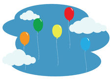 Floating balloons Stock Photo