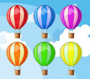 Floating balloons Stock Photo