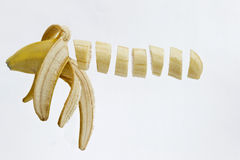 Floating banana Stock Photo