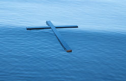 Floating Black Cross Royalty Free Stock Photo
