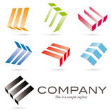 Floating blocks company logo and design elements Royalty Free Stock Photos