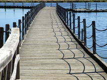 Floating boardwalk at Horicon Marsh, Wisconsin Royalty Free Stock Photo