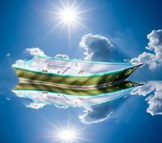 Floating boat Stock Photography