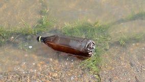 Floating Bottle stock video