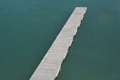 Floating bridge. Royalty Free Stock Image