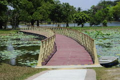 Floating Bridge at Cyberjaya Lake Stock Photo