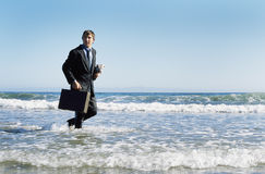 Floating Briefcase Stock Photo