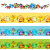 Floating Bubble Banner Set Stock Images