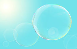 Floating Bubbles. Soap bubbles floating high in the sky Royalty Free Stock Photos