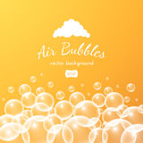 Floating bubbles. Beautiful vector background Stock Images