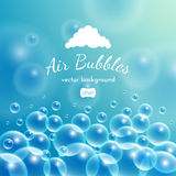 Floating bubbles. Beautiful vector background Stock Photos