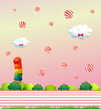 Floating candies Royalty Free Stock Images