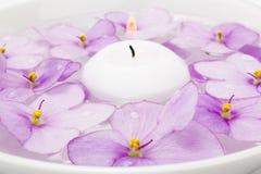 Floating candle Stock Photo