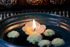 Floating candle Asia - Stock Photo Stock Image