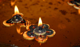 Floating Candles (2). Floating temple candles Royalty Free Stock Photo