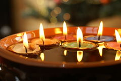 Floating candles Stock Photography
