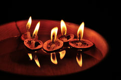 Floating candles Stock Image