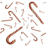 Floating Candy Canes Against White Seamlessly Tileable Stock Images