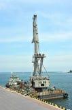 Floating cargo crane Stock Image