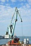 Floating cargo crane Royalty Free Stock Photo