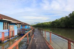 Floating Chalet. At Merbok River, Kedah Royalty Free Stock Images