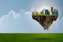 The floating city in urban planning concept Stock Photos