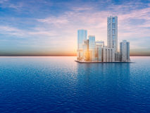 Floating City on Water Royalty Free Stock Image