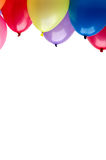 Floating colorful party balloons Stock Image